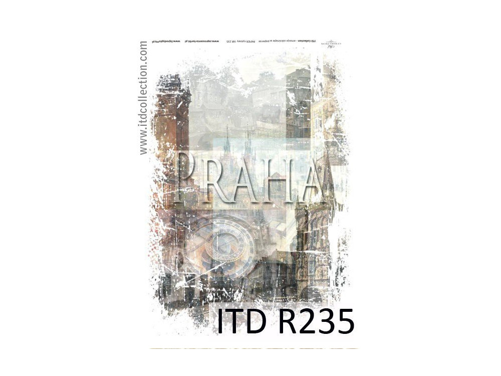 Papier do decoupage A4 - ITD Collection - ryżowy, R235