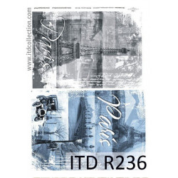 Papier do decoupage A4 - ITD Collection - ryżowy, R236
