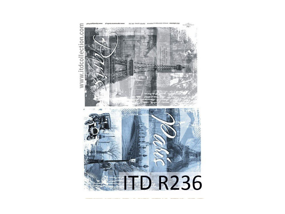 Decoupage paper A4 - ITD Collection - rice, R236