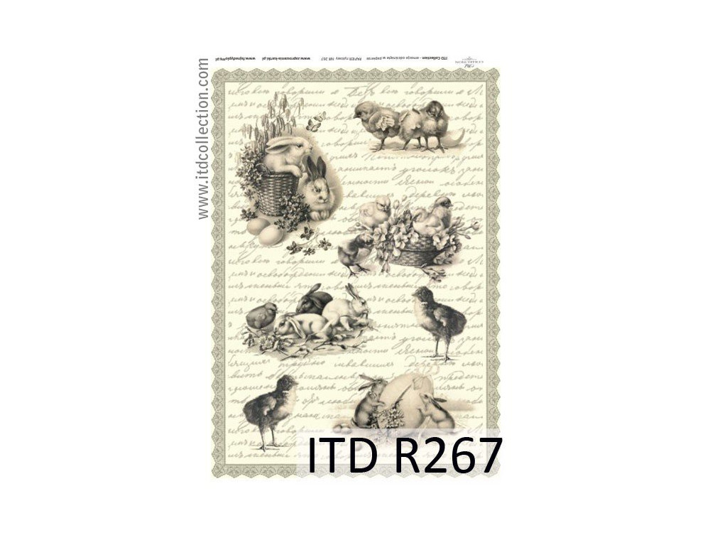 Decoupage paper A4 - ITD Collection - rice, R267
