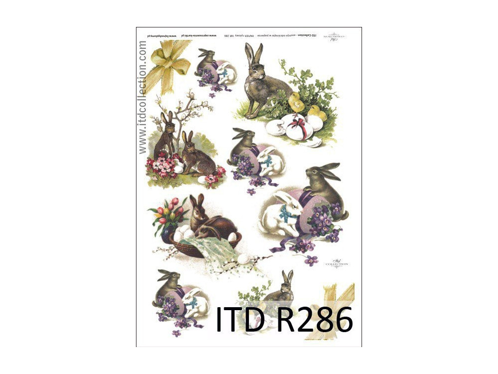 Decoupage paper A4 - ITD Collection - rice, R286
