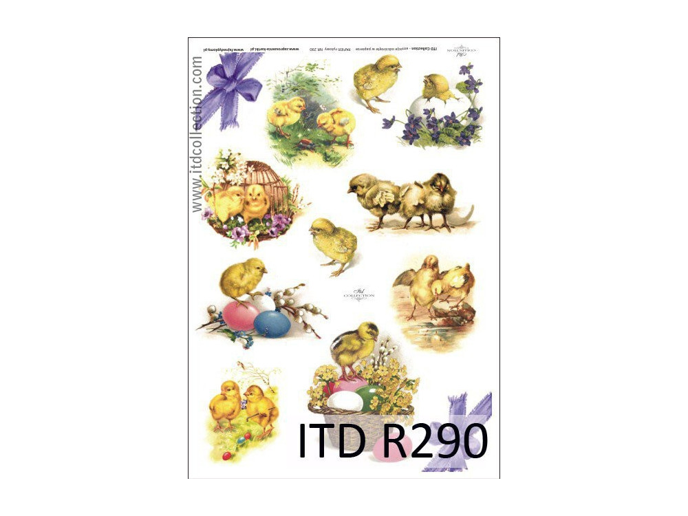 Decoupage paper A4 - ITD Collection - rice, R290