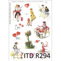 Papier do decoupage A4 - ITD Collection - ryżowy, R294