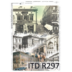 Decoupage paper A4 - ITD Collection - rice, R297
