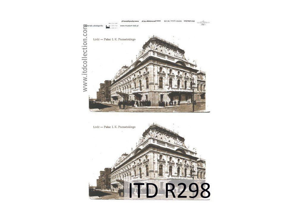 Papier do decoupage A4 - ITD Collection - ryżowy, R298