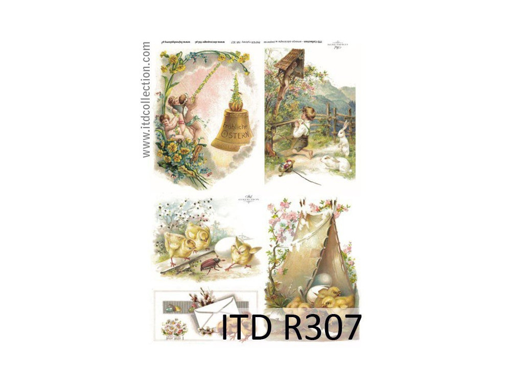 Decoupage paper A4 - ITD Collection - rice, R307