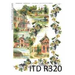 Papier do decoupage A4 - ITD Collection - ryżowy, R320