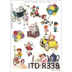 Decoupage paper A4 - ITD Collection - rice, R338
