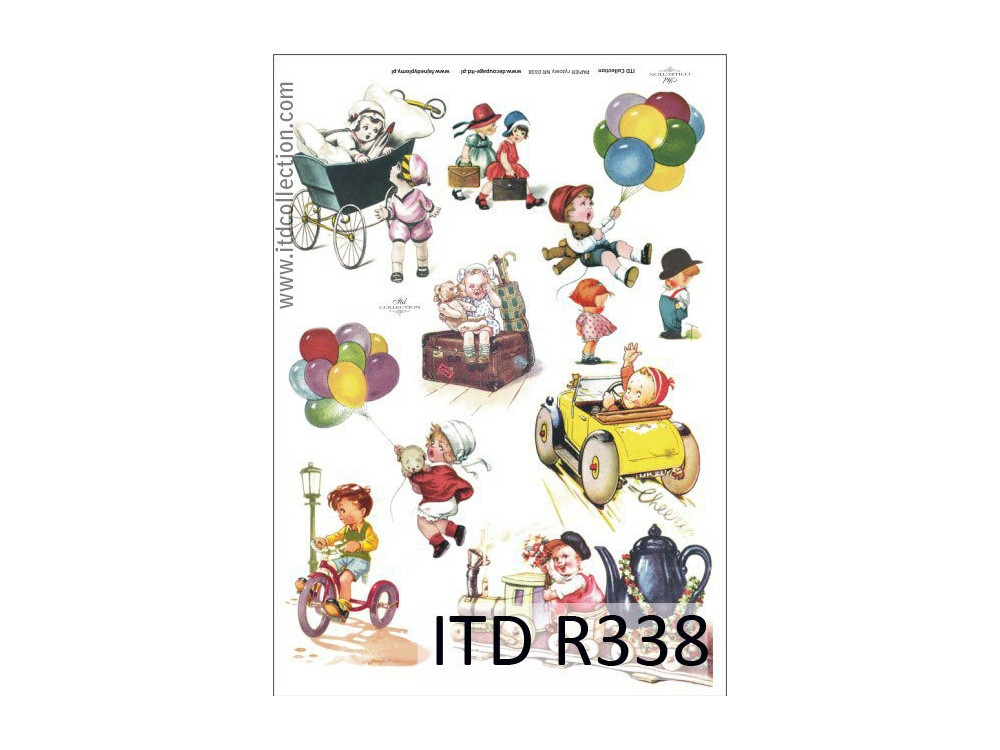 Papier do decoupage A4 - ITD Collection - ryżowy, R338
