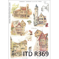 Papier do decoupage A4 - ITD Collection - ryżowy, R369