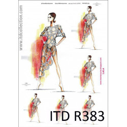 Papier do decoupage A4 - ITD Collection - ryżowy, R383