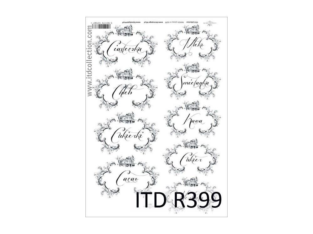 Decoupage paper A4 - ITD Collecion - rice, R399