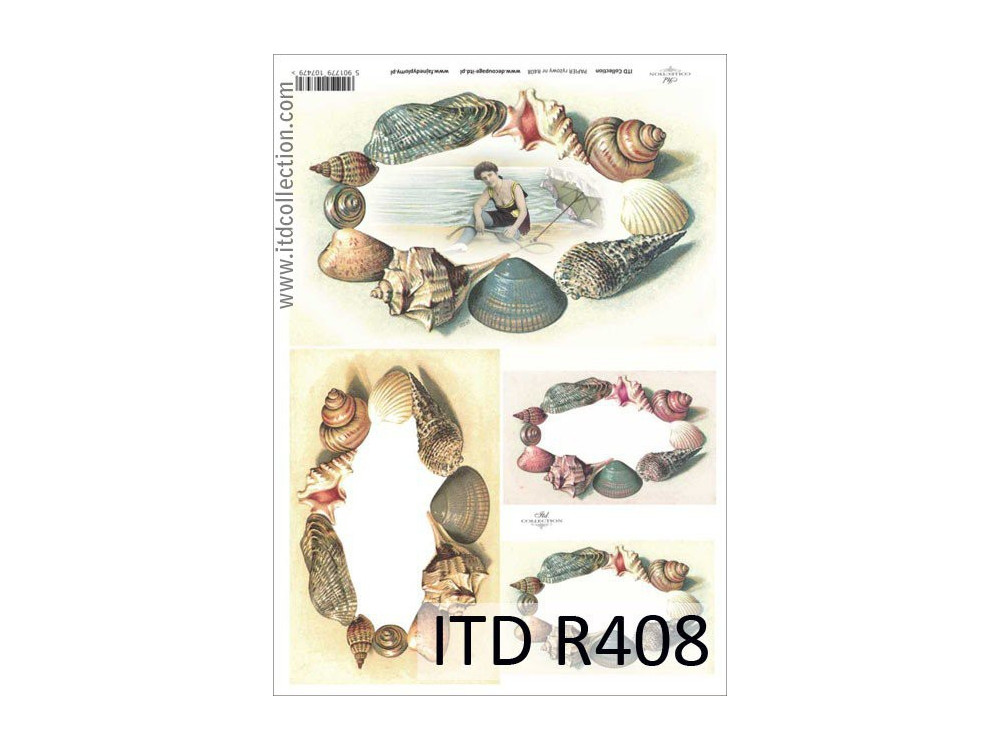 Papier do decoupage A4 - ITD Collection - ryżowy, R408