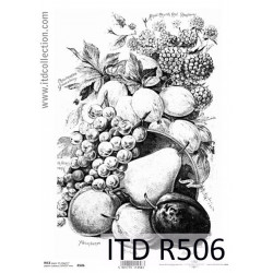 Papier do decoupage A4 - ITD Collection - ryżowy, R506