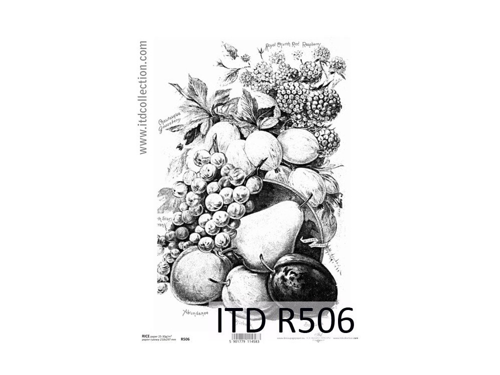 Decoupage paper A4 - ITD Collection - rice, R506