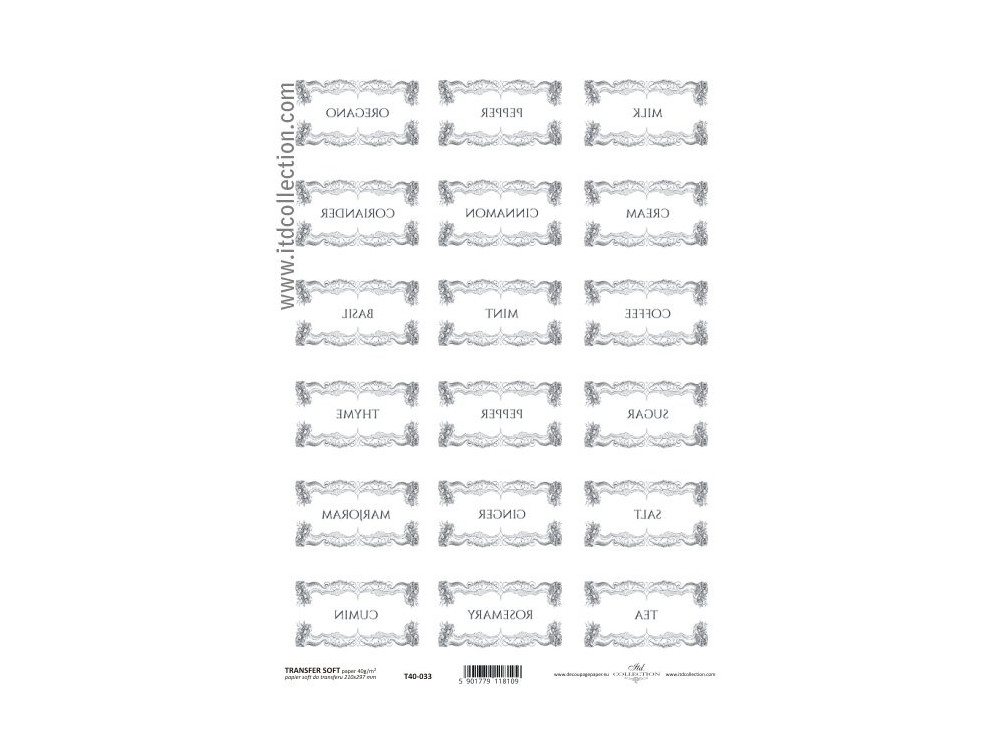 Transfer Paper ITD T40-033