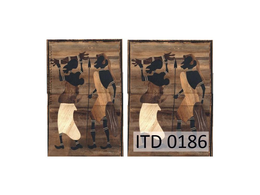 Papier do decoupage A4 - ITD Collection - klasyczny, 0186