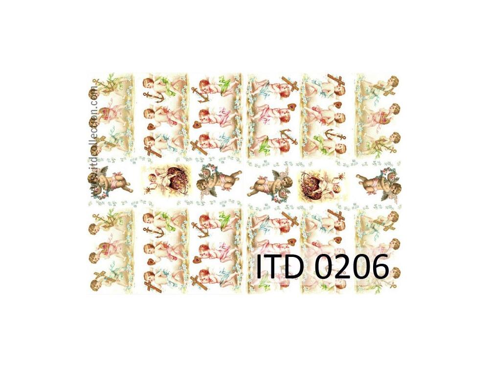 Papier do decoupage A4 - ITD Collection - klasyczny, 0206