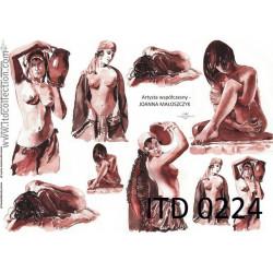 Papier do decoupage A4 - ITD Collection - klasyczny, 0224