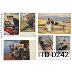 Papier do decoupage A4 - ITD Collection - klasyczny, 0242