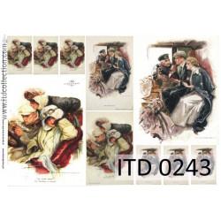 Papier do decoupage A4 - ITD Collection - klasyczny, 0243