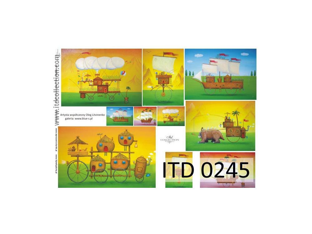 Papier do decoupage A4 - ITD Collection - klasyczny, 0245