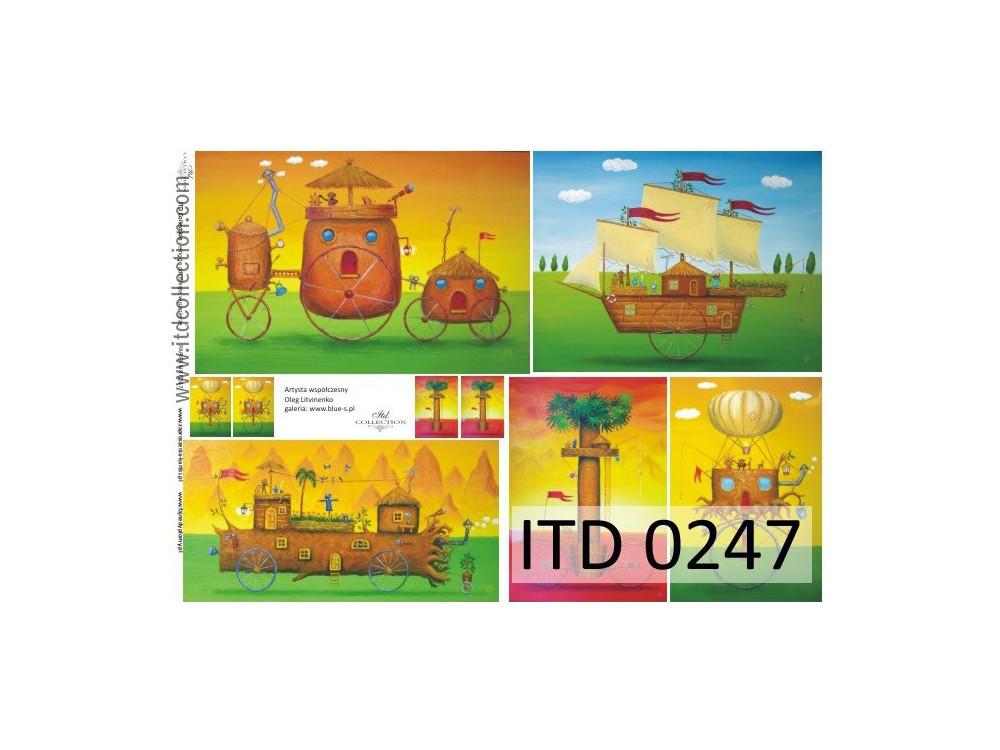 Papier do decoupage A4 - ITD Collection - klasyczny, 0247