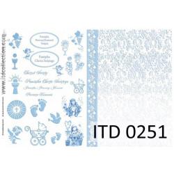 Papier do decoupage A4 - ITD Collection - klasyczny, 0251
