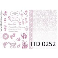 Papier do decoupage A4 - ITD Collection - klasyczny, 0252