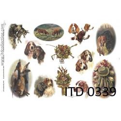 Papier do decoupage A4 - ITD Collection - klasyczny, 0339