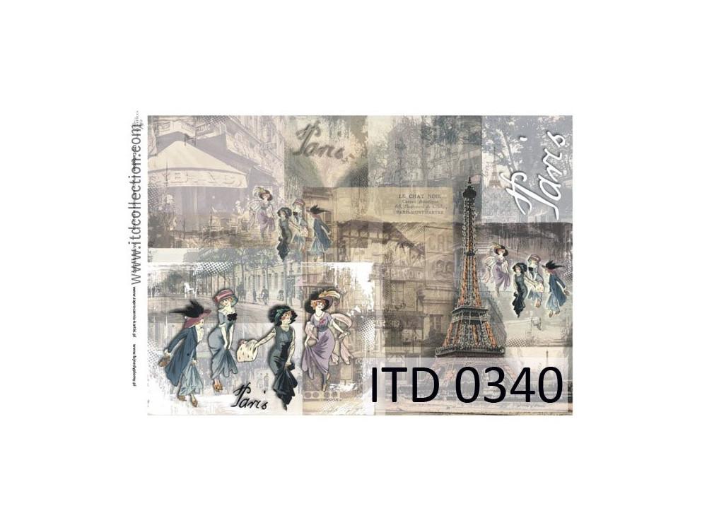 Papier decoupage ITD 0340