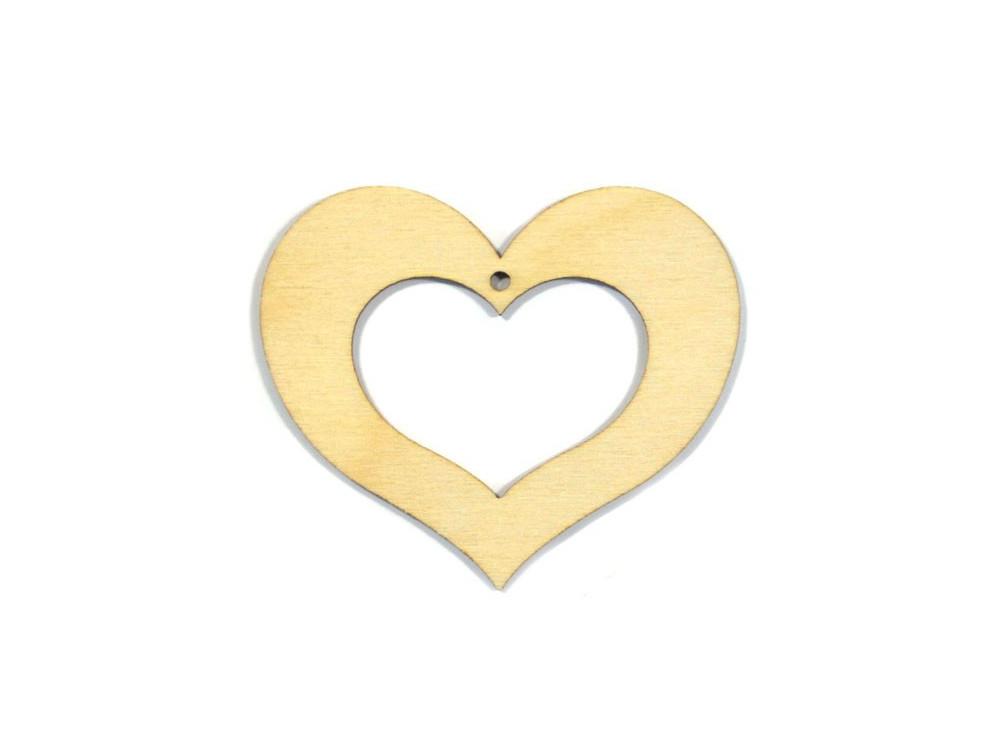Serce puste sklejka 10 cm