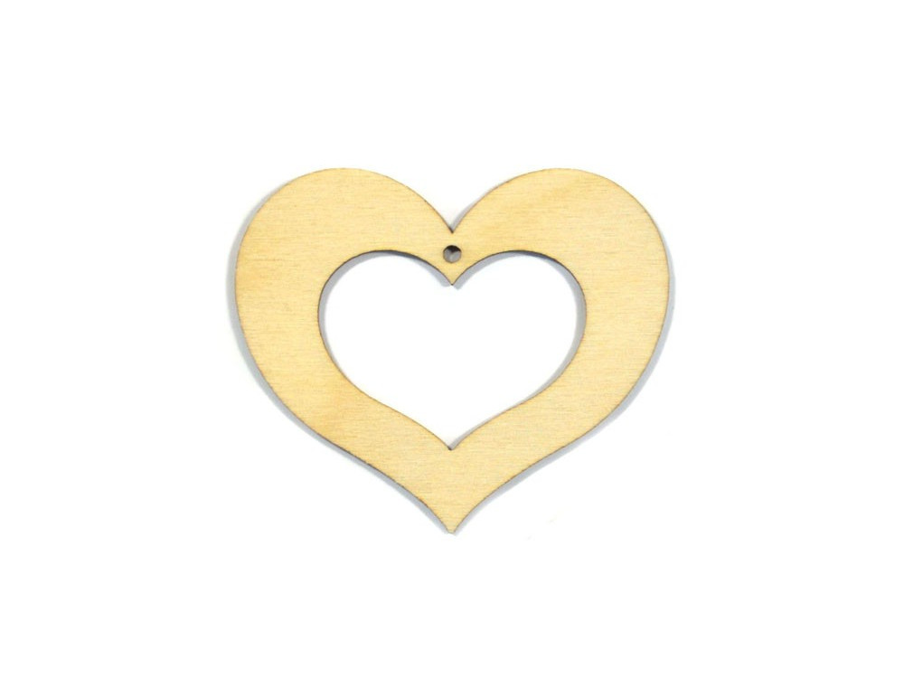 Wooden Plywood Heart 10 cm