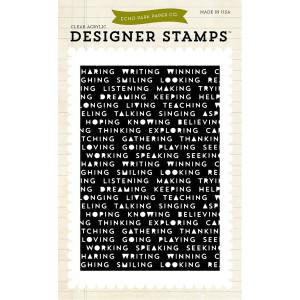 Stemple 10 x 15 cm Echo Park - Words