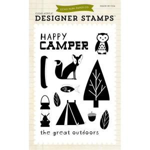 Stemple 10 x 15 cm Echo Park - Happy Camper