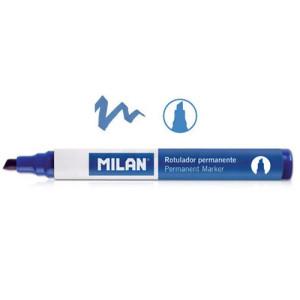 Marker permanentny ścięta końcówka niebieski MILAN