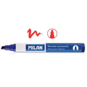 Marker permanentny ścięta końcówka MILAN czerwony