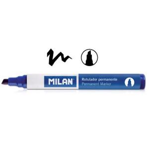 Marker permanentny ścięta końcówka MILAN czarny
