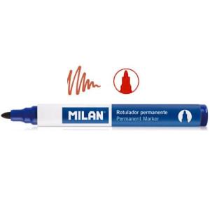 Marker permanentny okrągła końcówka MILAN czerwony