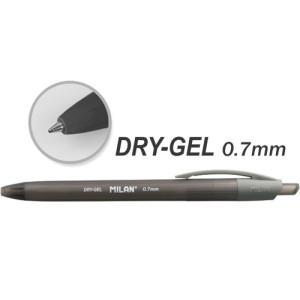 Długopis Dry Gel MILAN czarny