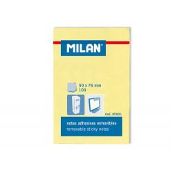 Karteczki samoprzylepne 50 x 76 mm - Milan - żółte, 100 szt.