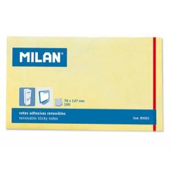 Karteczki samoprzylepne 76 x 127 mm - Milan - żółte, 100 szt.
