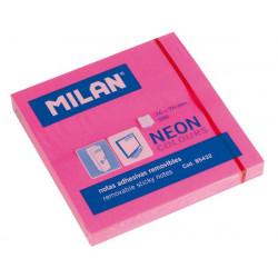 Karteczki samoprzylepne 76 x 76 mm - Milan - różowe, 100 szt.
