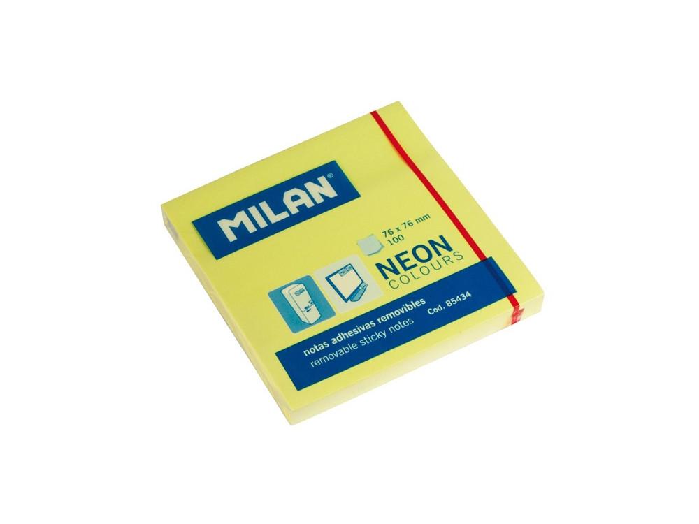 Karteczki samoprzylepne 76 x 76 mm - Milan - żółte, 100 szt.