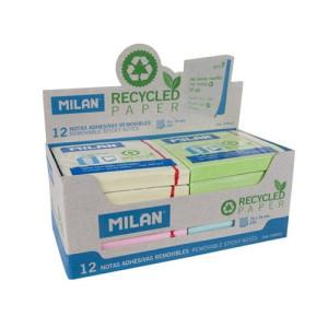 Karteczki ECO samoprzylepne MILAN 76 x 76 mm kolorowe