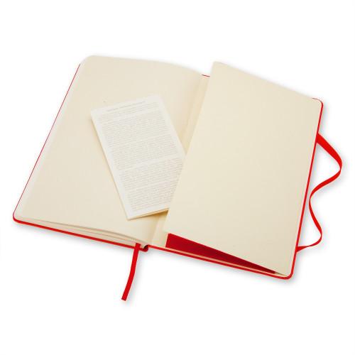 Notatnik Moleskine - Plain Red Hard Large