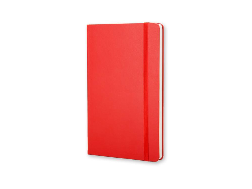 Notatnik gładki A5 - Moleskine - czerwony, twarda okładka