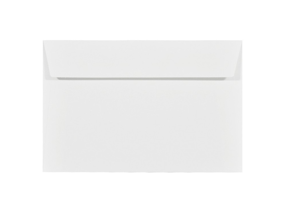 Koperta fakturowana Acquerello 100g - C6, Bianco, biała