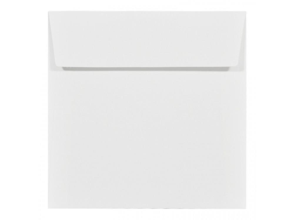 Koperta fakturowana Acquerello 120g - 17 x 17 cm, Bianco, biała