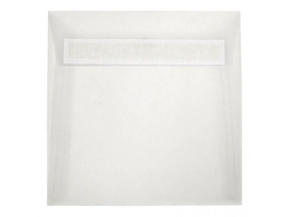 Translucent envelope 110g - 17 x 17 cm, Golden Star